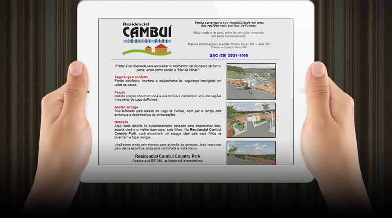 Página web para Residencial Cambuí