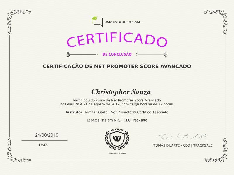 Certificação NPS Avançado - Track.co